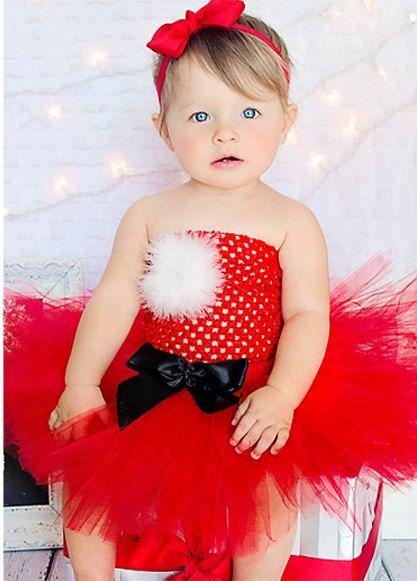Santa baby holiday christmas dress tutu needs straps and more white