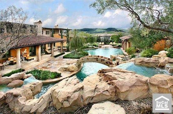 Coolest Backyard Pools Ever : Best backyard ever  Backyard wish  Pinterest