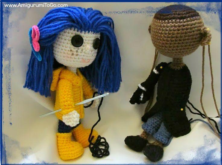 crochet coraline dolls Haken Pinterest