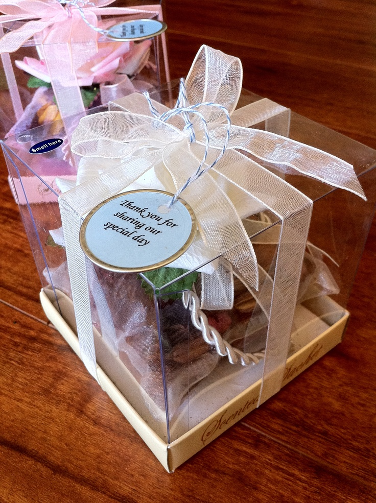 Potpourri Party Favor Vintage wedding Pinterest
