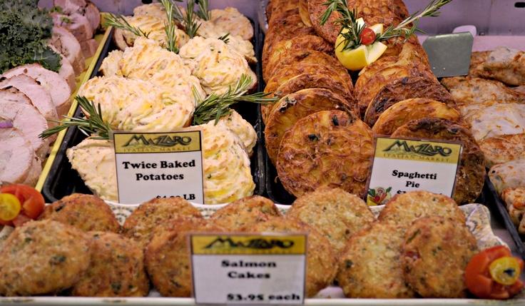 Twice Baked Potatoes, Spaghetti Pie and Salmon Cakes, YUM!