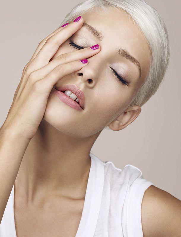 Platinum hair make up hair nails pinterest