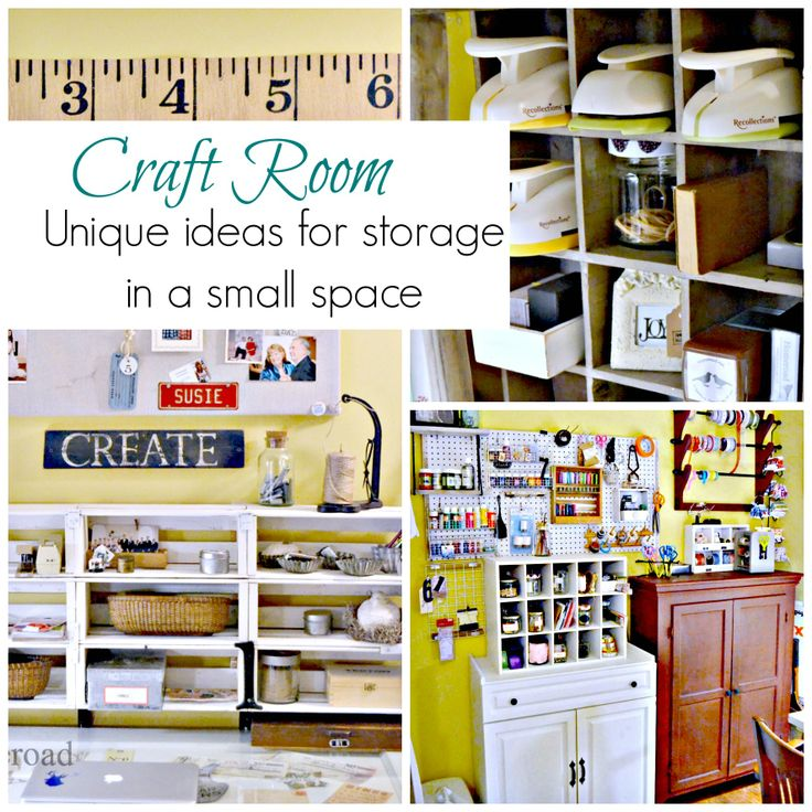 Craft Room With Unique Storage Ideas