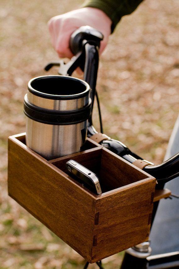 this. is. awesome. Bringin my coffee on my bike! (if I had a bike)