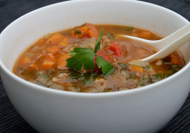French Lentil Soup with Barley and Rainbow Chard - Jeanette's Healthy ...