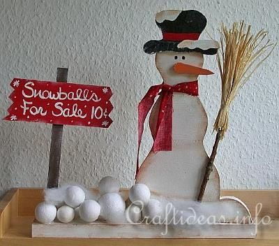 Snowman wood craft crafty things pinterest for Crafts to make for sale
