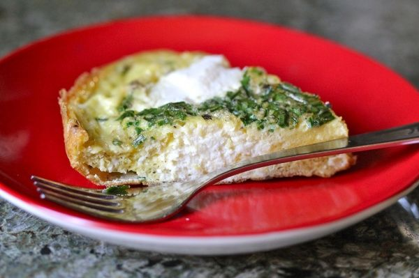 Chive ricotta frittata | Garden Recipes | Pinterest