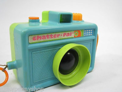 Vintage 1972 Mattel Chatter Pal Camera Toy - Green/Blue Camera Body www.luckypennyshop.com