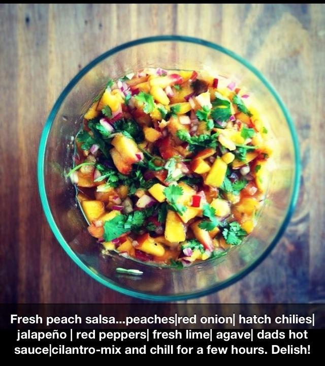Fresh summer peach salsa! | Appetizers | Pinterest