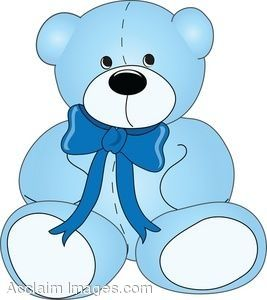 Baby boy teddy bear clip art - photo#3