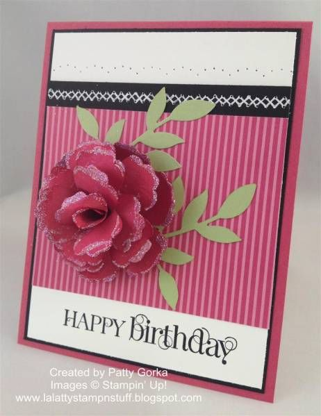 Birthday Paper Flower by LaLatty - Cards and Paper Crafts at ...