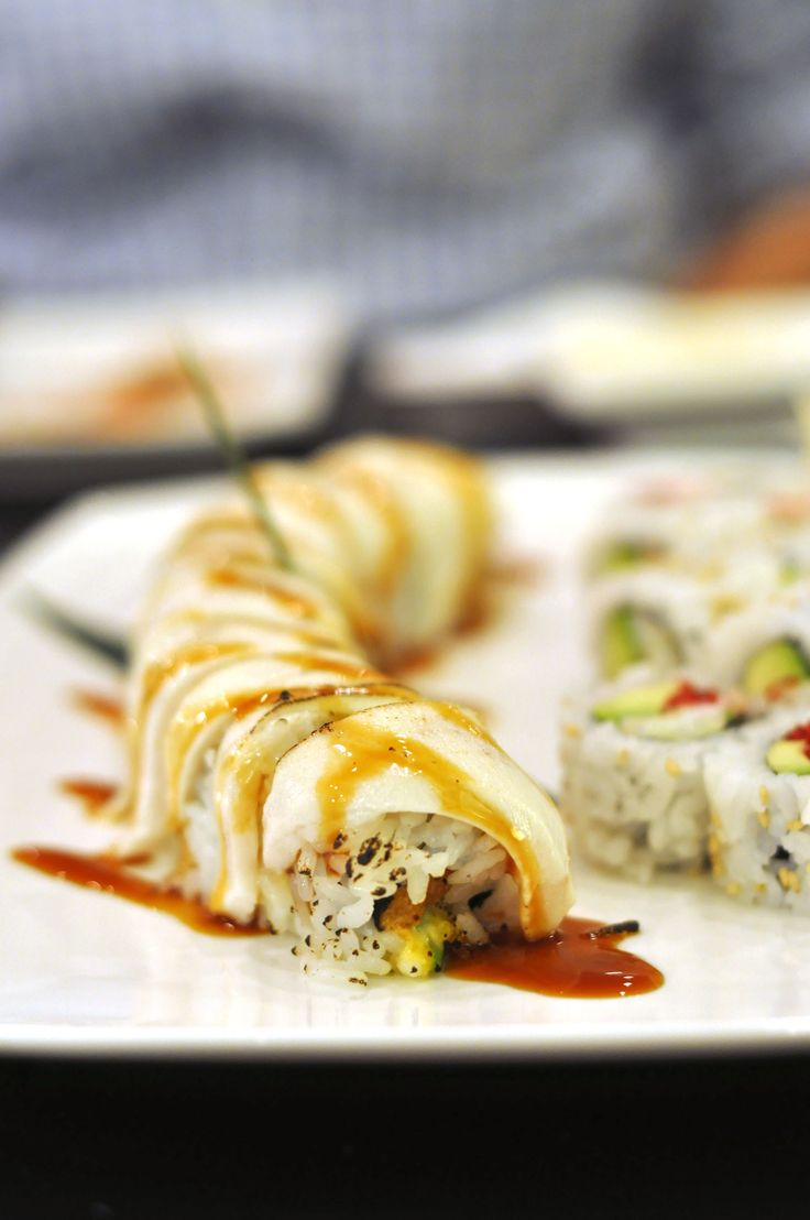 white dragon roll  foodphotographyWhite Dragon Roll