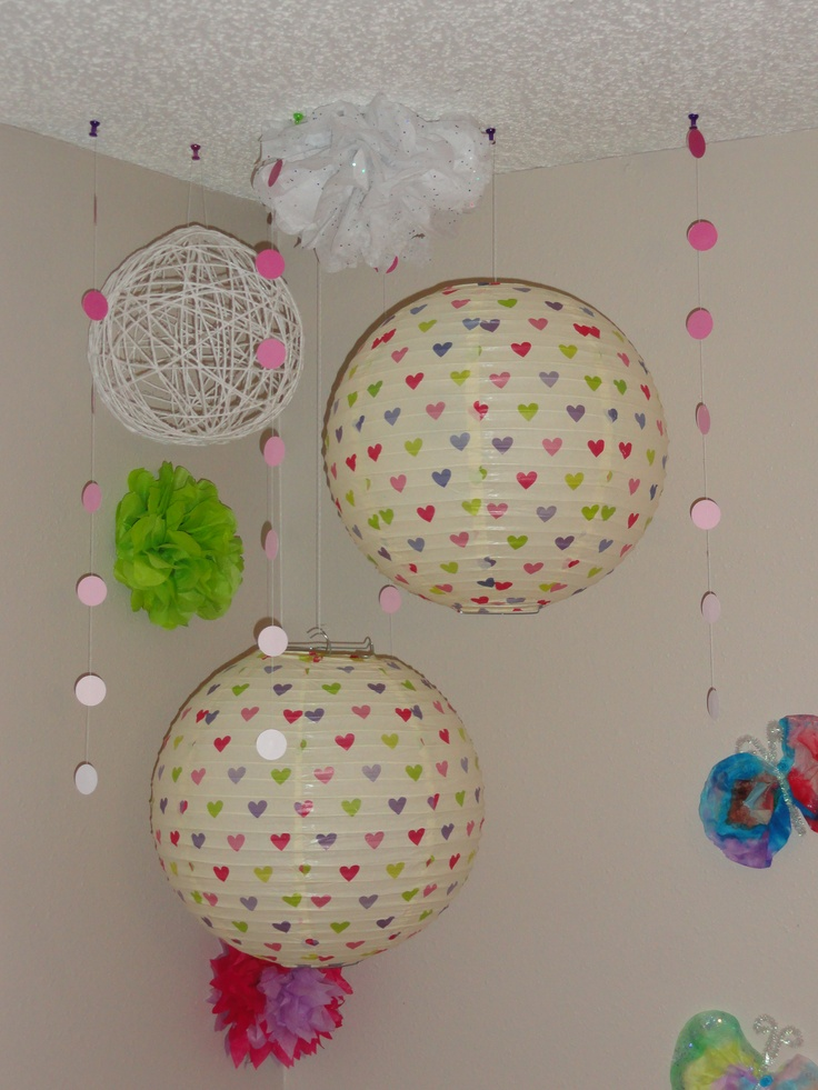 paper lanterns bought from hobby lobby tissue paper flowers made