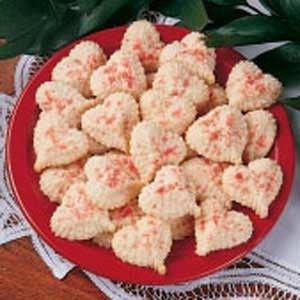 valentine's day butter cookies
