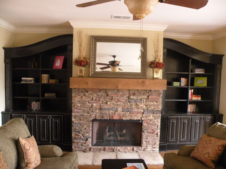 Awesome  Around Stone Fireplace Built In Tv Cabinets Around Fireplace Built Ins