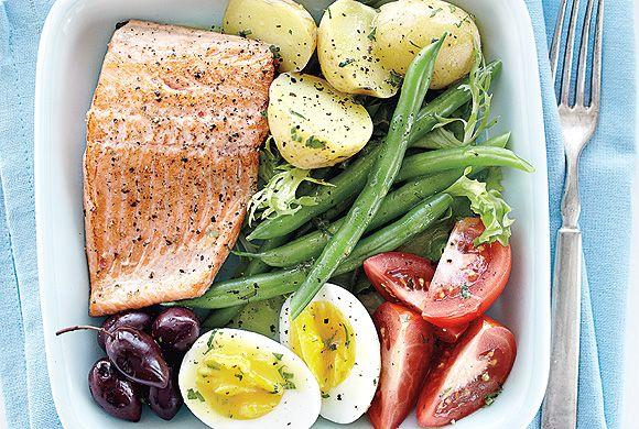 Trout Nicoise Salad