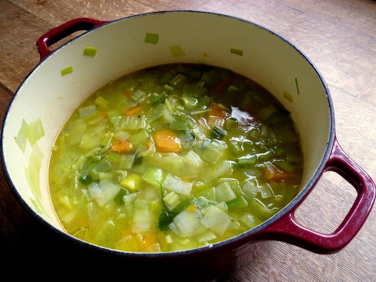 Butternut Squash and Leek Soup