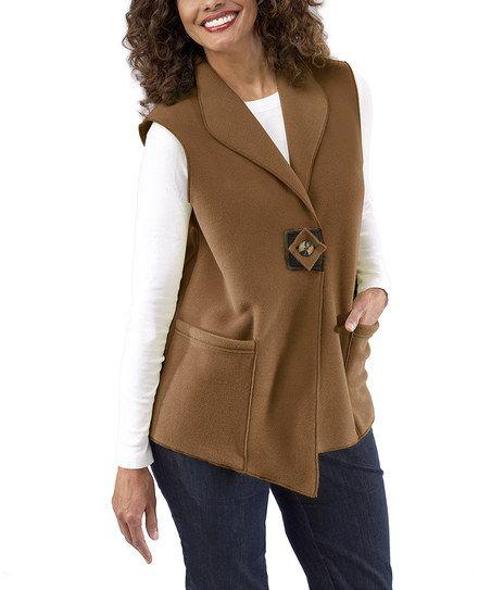 Caramel Artisan Fleece Vest