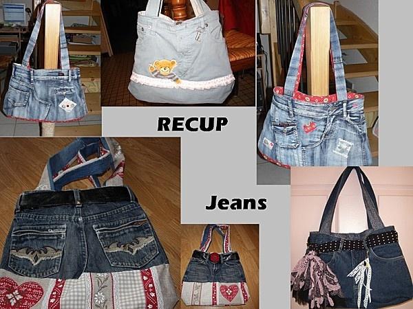Sacs r cup jeans d co r cup bricolage artisanat pinterest - Blog deco recup vintage ...