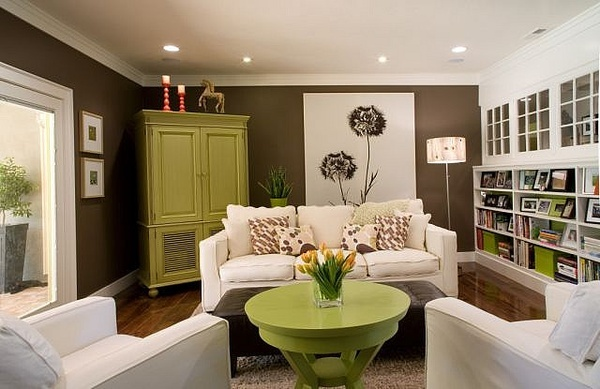 living room lime green and brown livingrooms pinterest