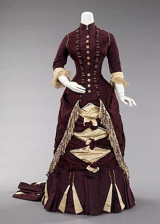 Afternoon dress 1880 1880s women s fashion pinterest