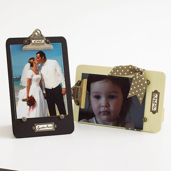 clipboard picture frames
