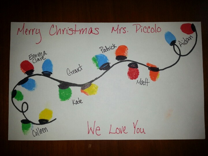 how to write a christmas card for preschool teacher