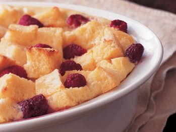 """Bursting with Raspberries Bread Pudding"""" from Cookstr.com #cookstr"""