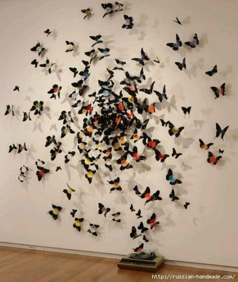 Украсить стены своими руками бабочки 479