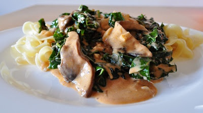 Mushroom and Kale Stroganoff-looks good enough to eat