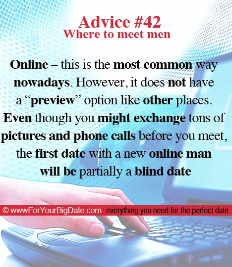 advice signing online dating