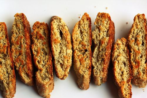 Parmesan black pepper biscotti, or what I'd call tomato soup dunkers ...