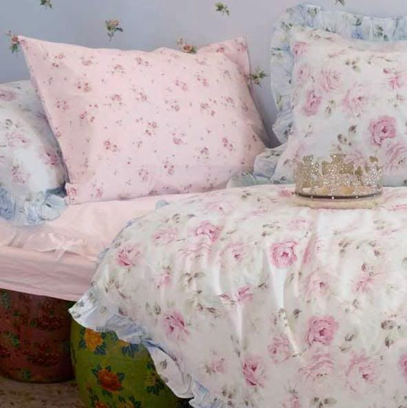 Pink butterfly aqua sky blue yellow butterflies twin duvet for Shabby chic bedspreads comforters
