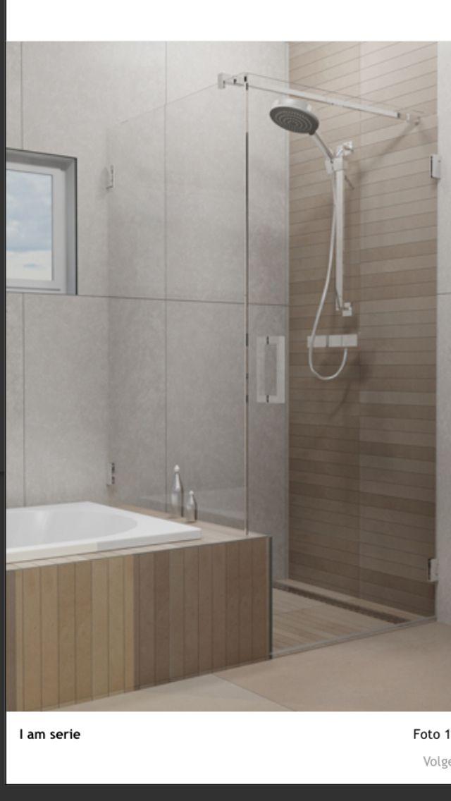 Kleine Open Badkamer ~ Douchewand kleine badkamer  Badkamer  Pinterest