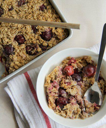 Baked Cherry Crisp Recipe — Dishmaps