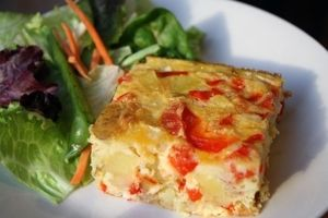 red pepper potato frittata | Recipes to try | Pinterest