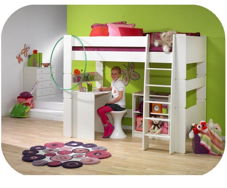 Lit mezzanine enfant steens chambre enfant pinterest - Enfant lit mezzanine ...