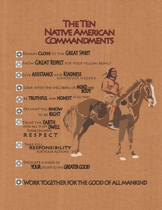Native American 10 Commandments