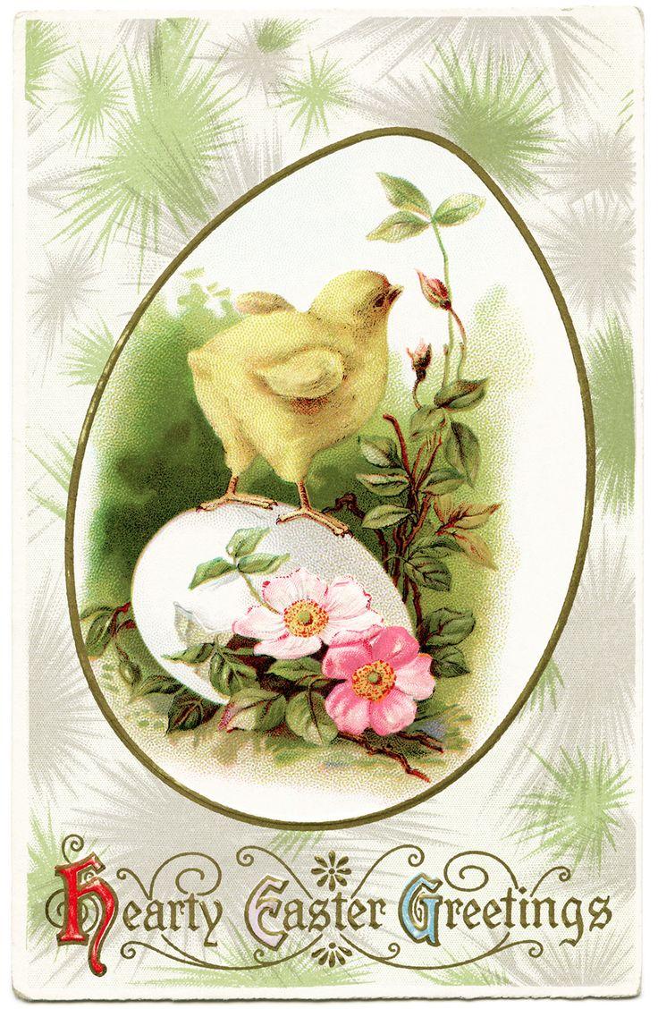 Old Design Shop ~ free digital image: Hearty Easter Greetings vintage postcard