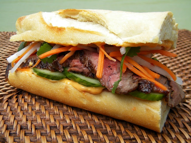 ... Mi Flank Steak Sandwich with quick-pickled carrot and daikon radish