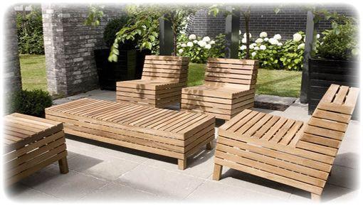 Wooden patio set