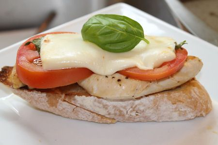 Open Faced Chicken Caprese Sandwich- This has my name written all over ...