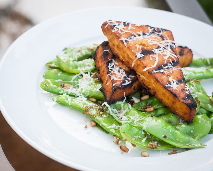 Broiled Tofu And Snow Peas Recipe — Dishmaps