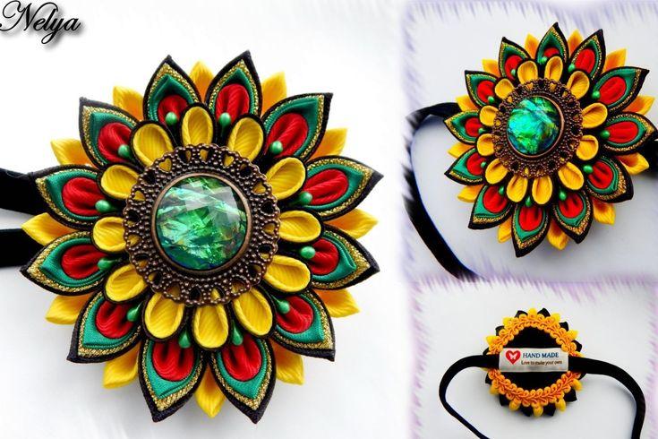 Мастер-класс канзаши цветок канзаши повязка на голову