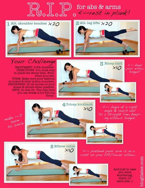 Exercises for abs arms and back