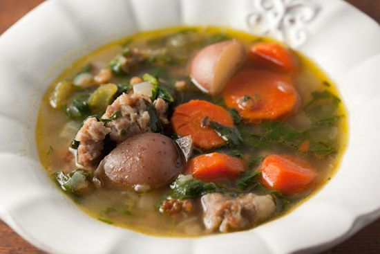 Hearty Spinach and Sausage Soup | Soup's On! | Pinterest