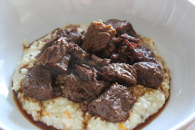 Spicy Stewed Beef With Creamy Cheddar Grits Recipes — Dishmaps