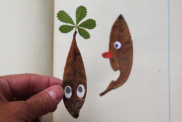 leaf art - fun