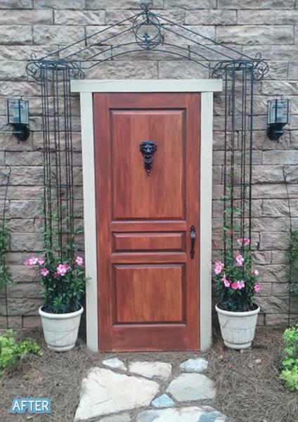 White Door Painted To Look Like Wood Diy Pinterest