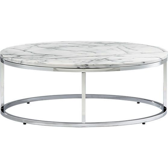 Smart round marble top coffee table Coffee tables with marble tops